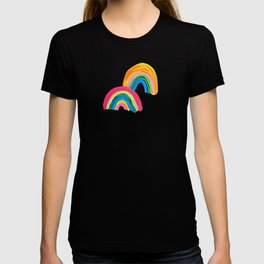 Abstract Rainbow Arcs - White Palette T-shirt