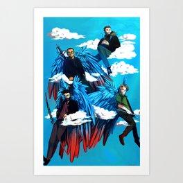 THE SWAINGELS Art Print