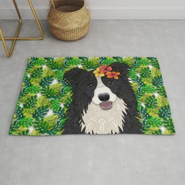 Tropical Border Collie Rug