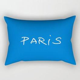 Paris 2 blue Rectangular Pillow