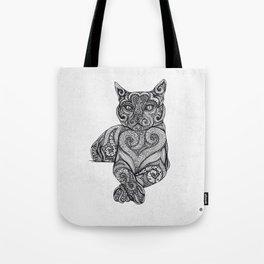 Zentangle Cat Tote Bag