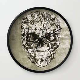 Feed my Soul, life full circle from a borderline view Wall Clock
