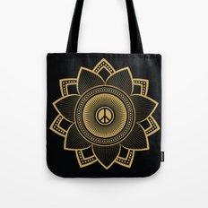 Peace Lotus Tote Bag