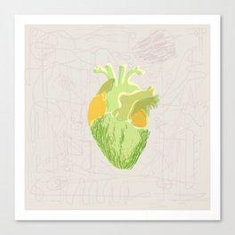 vegi heart Canvas Print