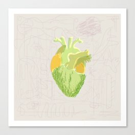 vegi heart Canvas Print