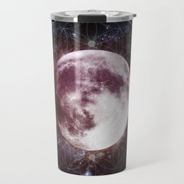 Moondala - Moon Sacred Geometry Mandala Travel Mug