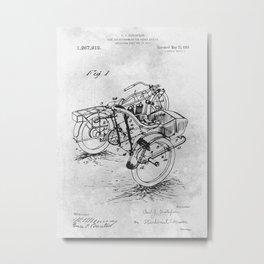 Side car motorcycle Metal Print