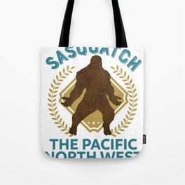 Sasquatch The Pacific North West PNW Bigfoot product Tote Bag