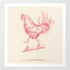 Cock Flip Art Print