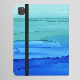 Alcohol Ink Seascape iPad Folio Case