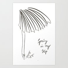 Spring in my Step Art Print