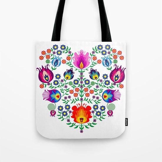 Folk Pattern - Flower Tote Bag