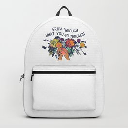 Grow Through What You Go Through Flower Backpack