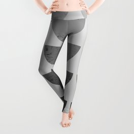 Scandinavian Art Midcentury Bowls Gray Leggings