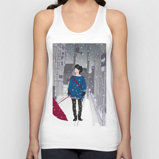 In The Snow Unisex Tank Top