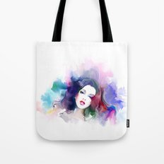 Beauty colored girl Tote Bag