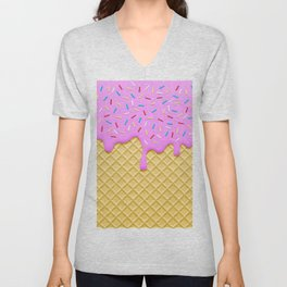 Strawberry Ice Cream Unisex V-Neck