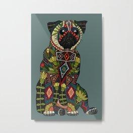 pug love juniper Metal Print