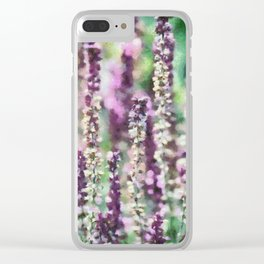 Purple Ribbons Clear iPhone Case