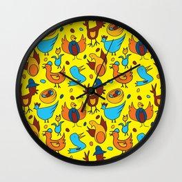 Crazy Birds Wall Clock