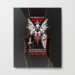 Templar Warrior Metal Print