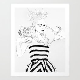 Girl Crush #1 - Erika Bearman Art Print