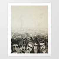 it crowd Art Prints featuring Crowd by Kelly Taylor Mitchell