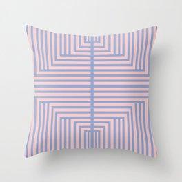All Roads - Rose Quartz and Serenity Op-Art Throw Pillow