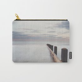 the ocean ... at peace with itself, the tide coming in as the sun sets. Carry-All Pouch
