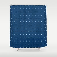 tardis Shower Curtains featuring Tardis by Edna Andrade
