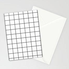 MODERN WHITE GRID Stationery Cards