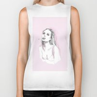 angelina jolie Biker Tanks featuring Jolie by Fernando Monroy Robles