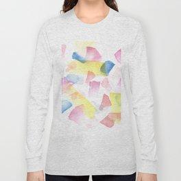 180527 Watercolour Abstract 10| Watercolor Brush Strokes Long Sleeve T-shirt