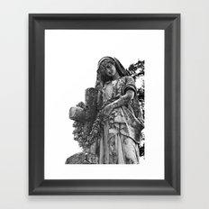 Blessed Virgin Mary Black & White Framed Art Print