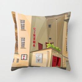Little Theater Throw Pillow