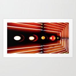 Elastic Neon part 3(right) Art Print