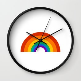 rainbow pride Wall Clock