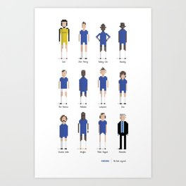 Chelsea - All-time squad Art Print