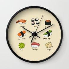 Sushi Days Wall Clock