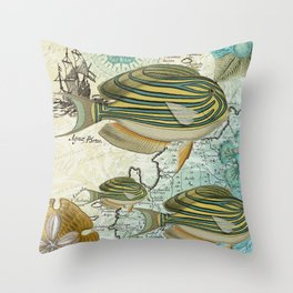 Sturgeon Fish Throw Pillow