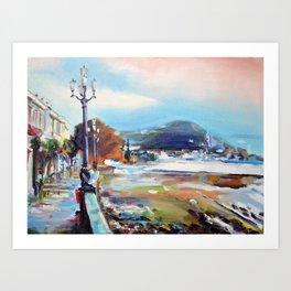 Quay after the storm Art Print
