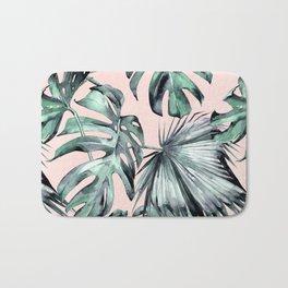 Island Love Coral Pink + Green Bath Mat