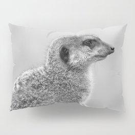 Meerkat (Black and White) Pillow Sham