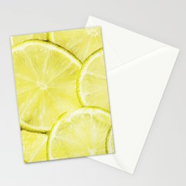 Lime slices Stationery Cards