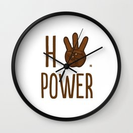 HiiiPower (w/text) : Chocolate Wall Clock