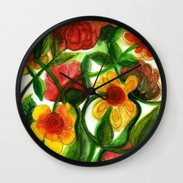 Flowers to Daniel Wall Clock