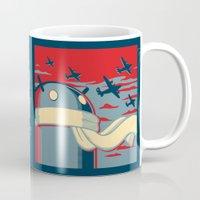 propaganda Mugs featuring Code for Victory Propaganda by Dimko