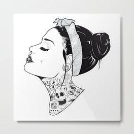 TATTOO--GIRL Metal Print