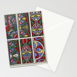 Specimens of the Glass in the Nave (1845) by John Bowne, a vibrantly colored painting of the vintage Stationery Cards