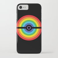 pokeball iPhone & iPod Cases featuring Rainbow Pokeball by Hi 5 Graphics